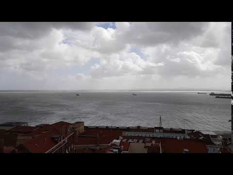 Lisbon, Portugal : Beautiful view of the rain clouds from National Pantheon (Panteão Nacional)
