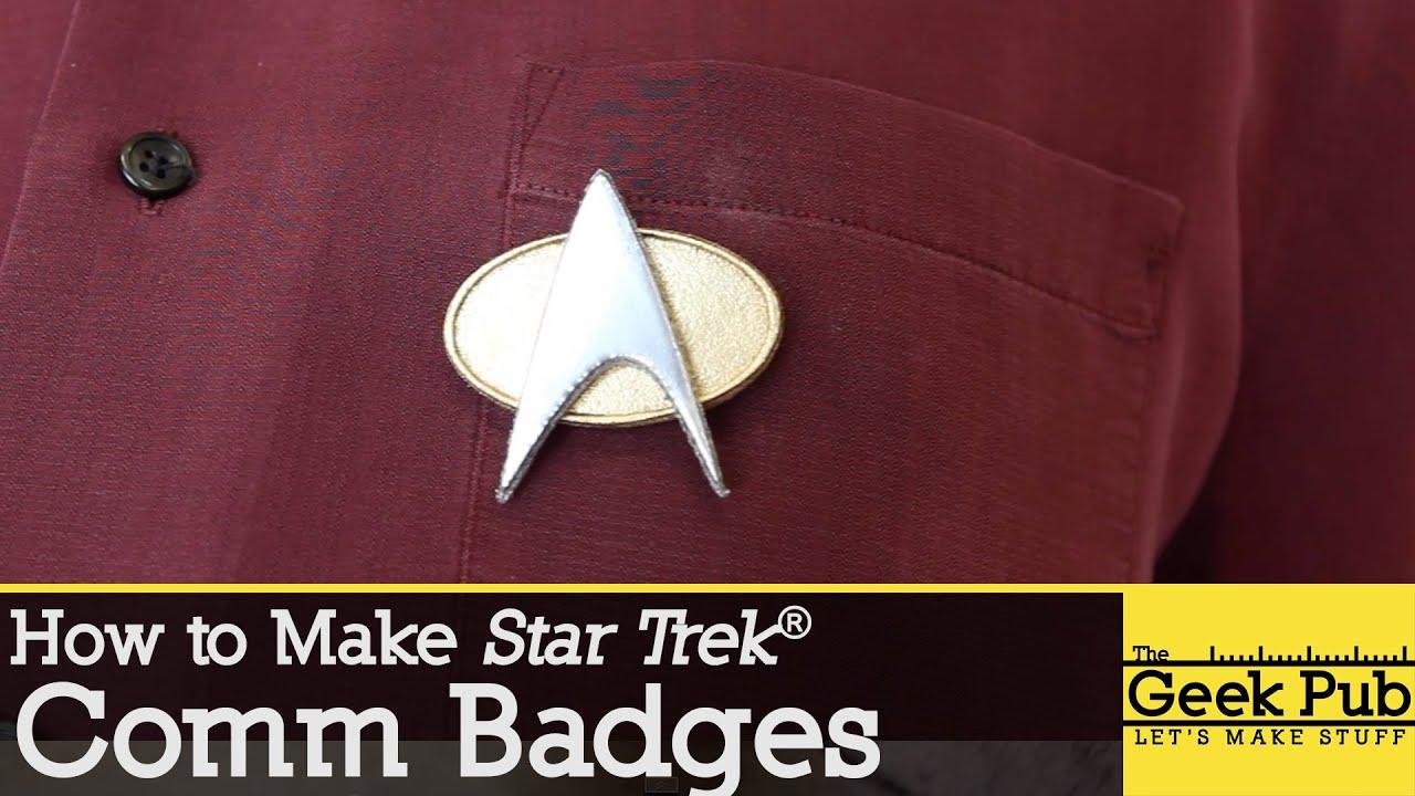 how to make star trek comm badges youtube