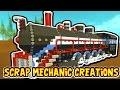 Scrap Mechanic CREATIONS! - CRAZY WORKING TRAIN!! [#14] W/AshDubh | Gameplay |