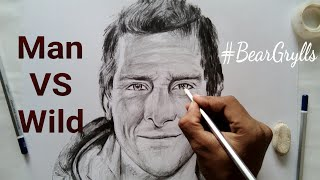 How to draw Bear Grylls step by step for beginners