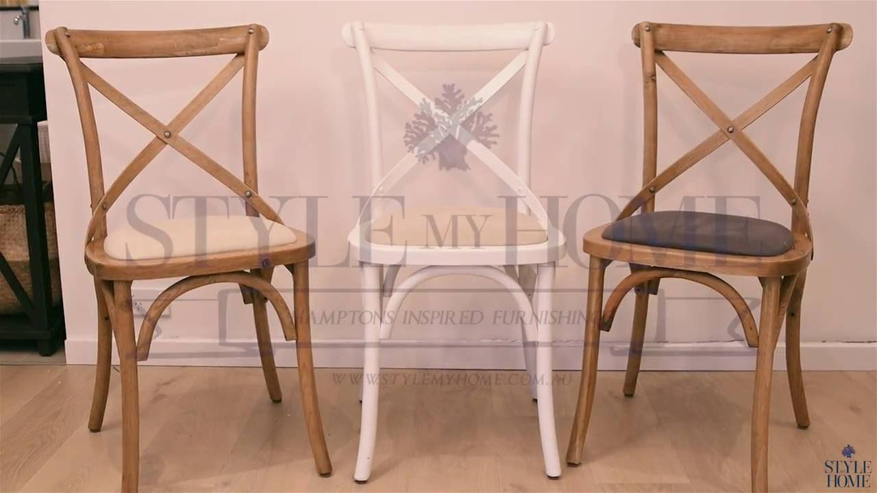 david hamptons cross back linen dining chairs youtube. Black Bedroom Furniture Sets. Home Design Ideas
