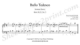 Haydn : German Dance Hob. IX:22, No. 3 - Ballo Tedesco