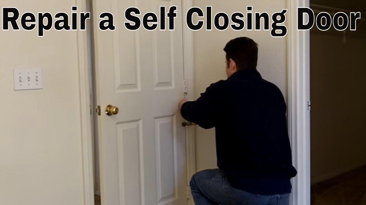 & Repairing A Self Closing Door - YouTube pezcame.com
