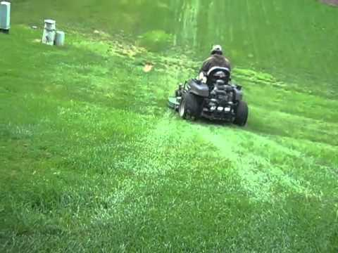 Cutting A Steep Hill Youtube