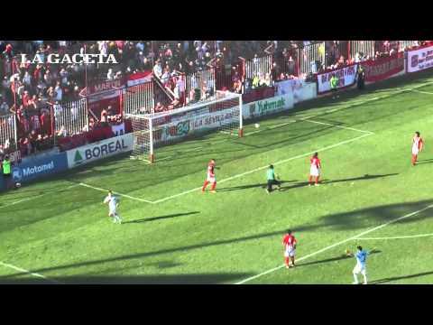 Con este gol Atlético le ganó a San Martín por 1 a 0