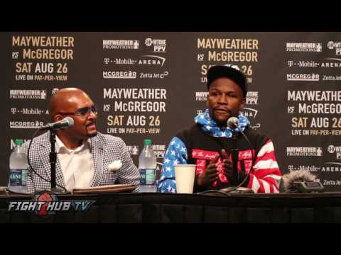 Thumbnail: Floyd Mayweather explains why McGregor fight will use 10oz gloves not 8oz