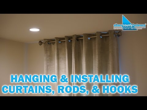 How To Install Curtain Rods & Hang Curtains | DIY Home Improvement