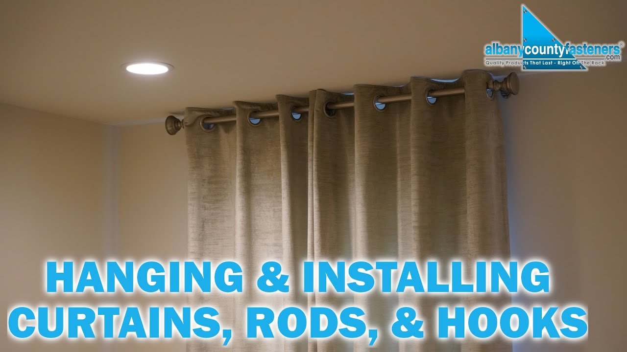 how to install curtain rods hang curtains diy home improvement