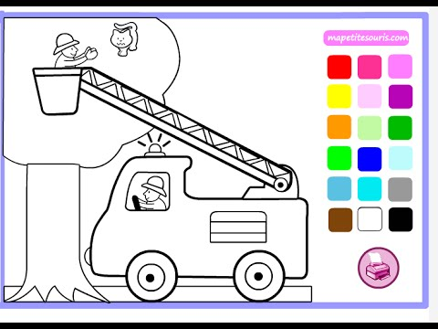 Fire Truck Coloring Pages for Kids - Fire Truck Coloring Pages ...