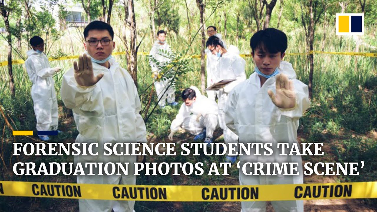 Forensic Science Students In China Take Graduation Photos At Crime Scene Youtube