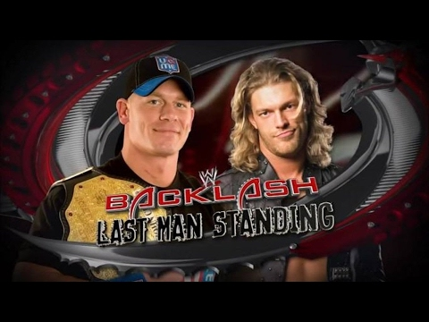 WWE Backlash 2009 - FULL SHOW : John Cena vs Edge in Last Man Standing