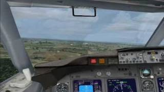 737 awesome landing Cancun FSX