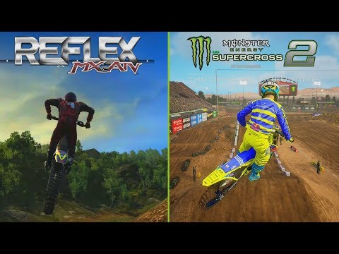 Supercross The Game 2 VS MX Vs ATV REFLEX | Gameplay Comparison Video 2019