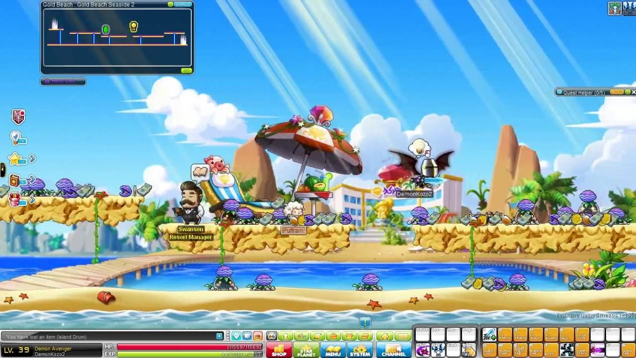 Maple Story: Gold Beach Quests (Level 35-47) - YouTube