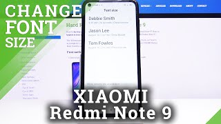 How to Change Font Size in XIAOMI Redmi Note 9 – Find Font Settings