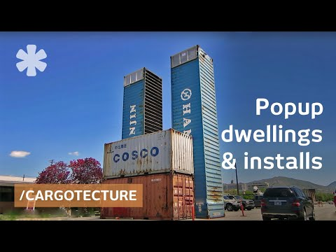 Shipping containers as nomadic pop-up hood in Salt Lake City