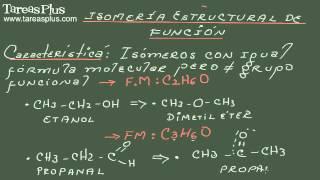 Isomería Estructural de Función