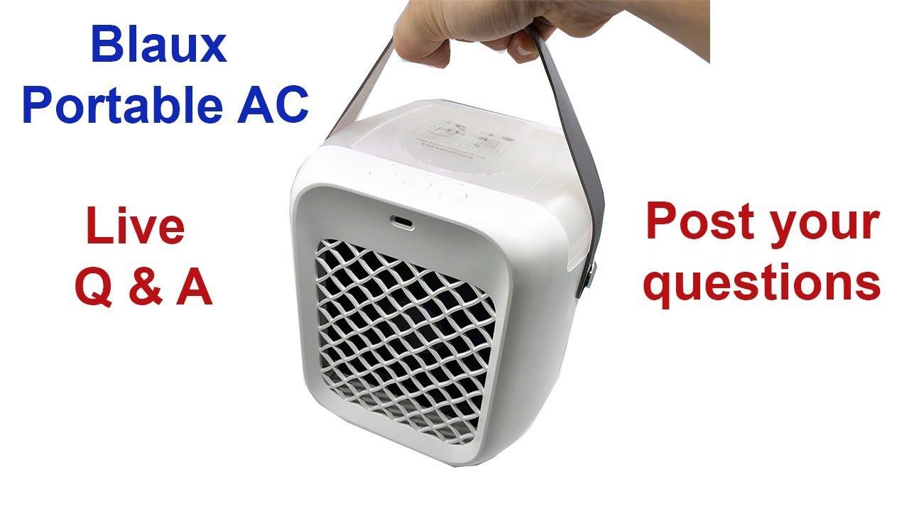 Blaux Portable AC Review Live Q & A - YouTube
