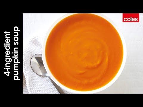 4 ingredient easy pumpkin soup