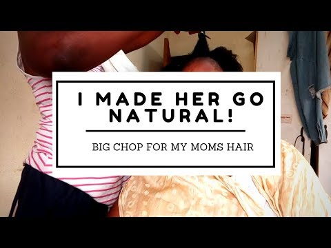 I MADE MY MOM GO NATURAL! | My Mom's Big Chop Video | OmogeMuRa