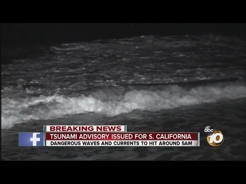 Tsunami advisory issued for parts of California