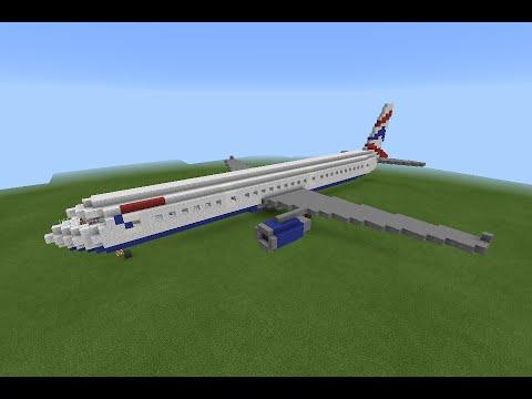 minecraft pe airplanes a321 british airways youtube