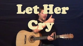 Let Her Cry (Hootie & The Blowfish) Easy Strum Chord Guitar Lesson How to Play Tutorial