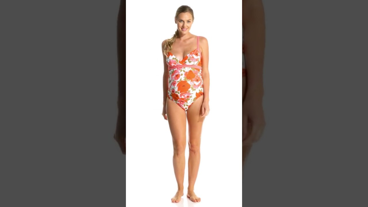 f1e0fbf613091 Pez D or Maternity Montego Bay Floral One Piece Swimsuit ...