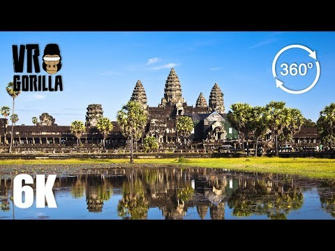 Angkor Wat & Siem Reap Cambodia Guided Tour (6K 360 VR Video)