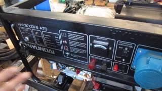 видео Бензиновый генератор  Hyundai HHY7000F