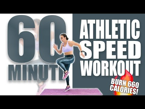 60 Minute Athletic Speed Workout 🔥Burn 660 Calories! 🔥Sydney Cummings