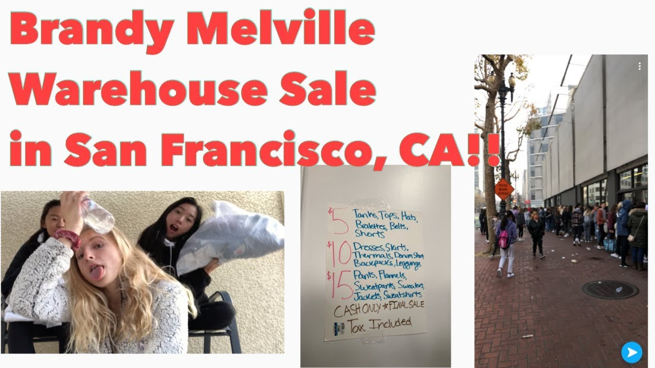 11cfc5e8503f6e Brandy Melville Warehouse Sale in SF