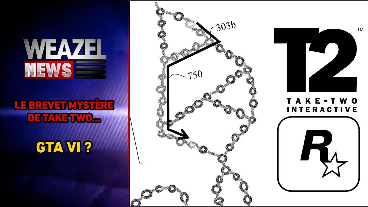 TAKE TWO DÉPOSE UN MYSTÉRIEUX BREVET EN LIEN AVEC ROCKSTAR GAMES (GTA 6/GTA ONLINE V2)