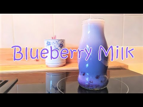 Fresh Blueberry Milk - blueberries, sugar, milk, water