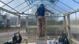 10x12 Harbor Freight Greenhouse Installation on a Deck with Structural Mods......Start to Finish...