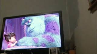 your emotional sister is crying while you guys watch monsters inc (annoying)