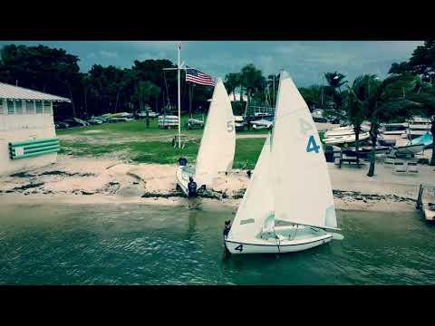 Palm Beach Atlantic University sailing club hosted at the Palm Beach sailing club