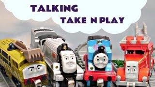 Thomas, Diesel talk to the Annoying Orange