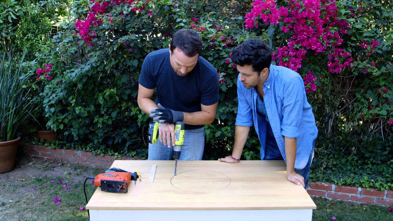 Beer Cooler Coffee Table Outdoor Table Hack Built In Cooler Youtube