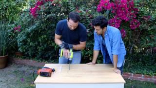 Outdoor Table Hack: Built-in Cooler