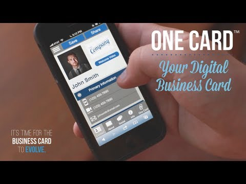 One Card™ Your Digital Business Card - YouTube