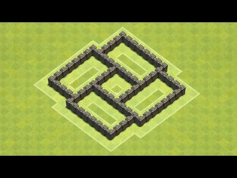 Clash of Clans Town Hall 4 Defense (CoC TH4) BEST Farming Base Layout Defense Strategy