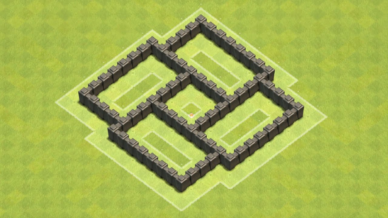 Clash of clans town hall 4 defense coc th4 best farming base layout