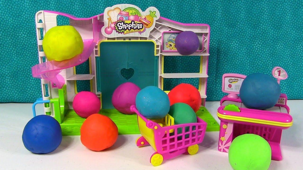 Uova sorprendenti Play-Doh Giocattoli nascosti Shopkins Moshi Monster-1548
