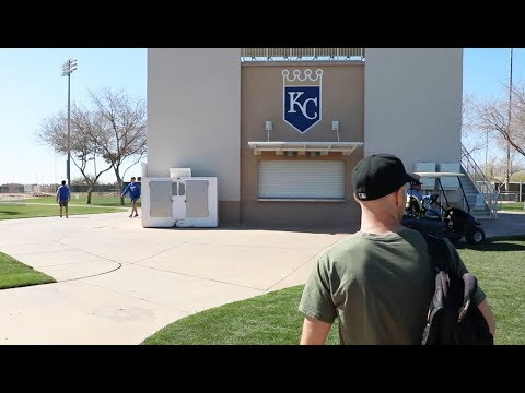 AMAZING access at Spring Training -- Rangers & Royals morning workouts