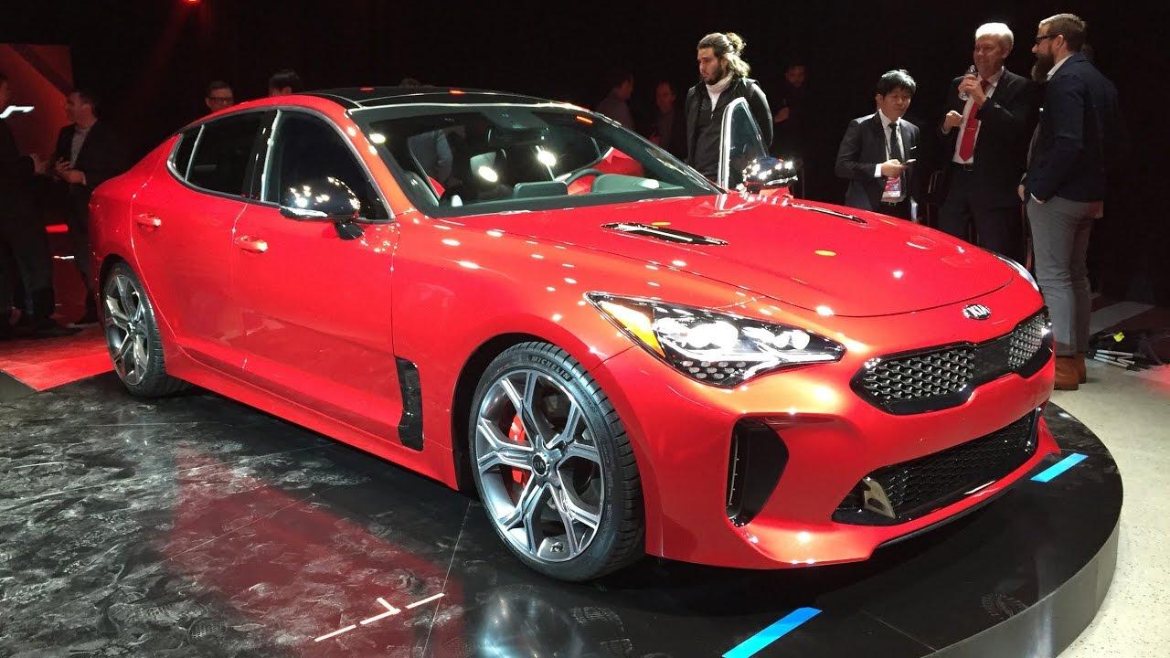 2018 kia stinger gt detroit auto show 2017 interior exterior performance design review
