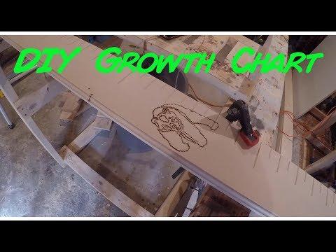 DIY Growth Chart / Easy To Build / Full Tutorial / Rustic Wood Design / Wood Work / Burn Wood
