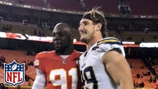 Joey Bosa & Tamba Hali Get Some Work in After Chargers vs. Chiefs Game | NFL Highlights