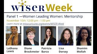 WISER Week Panel 1: Mentorship