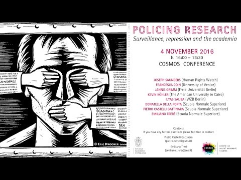 Policing research Surveillance, repression and the academia - 4 November 2016